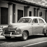 Cuba Fuerte Collection SQ BW - Vintage Car