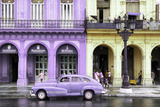 Cuba Fuerte Collection - Colorful Architecture and Mauve Classic Car