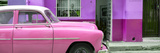 Cuba Fuerte Collection Panoramic - Vintage Pink Car of Havana
