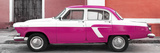 Cuba Fuerte Collection Panoramic - American Classic Car White and Dark Pink