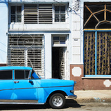 Cuba Fuerte Collection SQ - Retro Blue Car