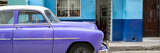 Cuba Fuerte Collection Panoramic - Vintage Purple Car of Havana