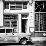 Cuba Fuerte Collection SQ BW - Retro Car