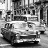 Cuba Fuerte Collection SQ BW BW - Taxi Cars Havana