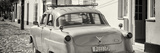 Cuba Fuerte Collection Panoramic BW - Old Ford Classic Car
