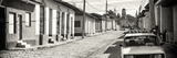 Cuba Fuerte Collection Panoramic BW - Cuban Street Scene in Trinidad