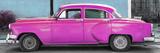 Cuba Fuerte Collection Panoramic - Beautiful Retro Pink Car