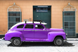 Cuba Fuerte Collection - Purple Vintage Car