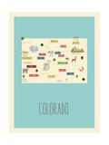 Colorado Blue Map