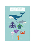 Image animaux marins Reproduction d'art par Kindred Sol Collective