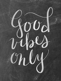 Silver Chalkboard Good Vibes Typography