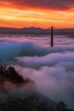 Prime Mood Dark Morning Fog & Sunrise Burn San Francisco Golden Gate