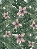Tropical Botanical Leaves Reproduction d'art par Jetty Printables