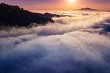 Sunrise Above Fog at East Bay Hills Oakland Mount Diablo