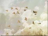 Golden Flight II Tableau sur toile par Jennifer Goldberger