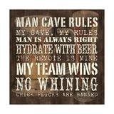 Man Cave Rules Sq