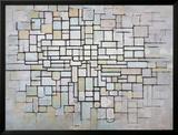 Composition No 11 in Grey, Pink and Blue, 1913 Reproduction encadrée par Piet Mondrian