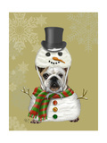 English Bulldog  Snowman Costume