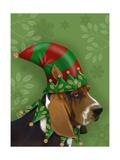 Basset Hound  Elf Hat