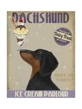 Dachshund  Black and Tan  Ice Cream