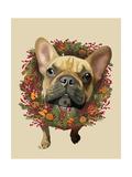 French Bulldog  Cranberry Wreath