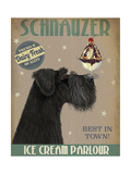 Schnauzer  Black  Ice Cream