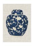 Blue & White Ginger Jar on Linen II