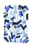 Cerulean Strokes I Reproduction d'art par Grace Popp