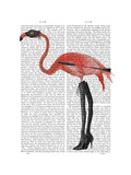 Flamingo with Kinky Boots