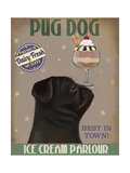 Pug  Black  Ice Cream