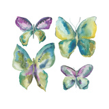 Jeweled Butterflies I