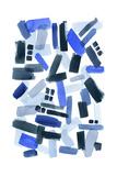 Cerulean Strokes II Reproduction d'art par Grace Popp