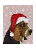Basset Hound  Christmas Hat