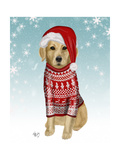 Golden Retriever in Christmas Sweater