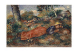 Young Woman Lying in the Grass  1890-95