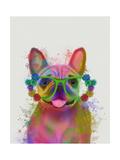 Rainbow Splash French Bulldog  Portrait