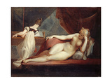 Reclining Nude and Woman at the Piano  1799-1800