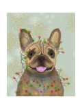 French Bulldog  Christmas Lights 1