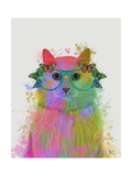 Rainbow Splash Cat 3  Portrait