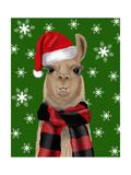 Llama  Christmas Hat
