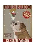 English Bulldog Ice Cream Reproduction d'art par Fab Funky