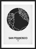 San Francisco Street Map Black on White