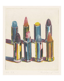 Eight Lipsticks, 1988 Reproduction d'art par Wayne Thiebaud