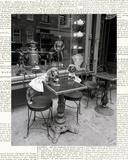 Barking at the Waiter with Newsprint