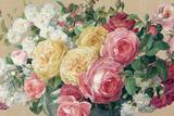 Antique Roses on Tan Crop
