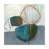 Circle Tower Turquoise Crop Reproduction d'art par Jane Davies