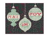 Jolly Holiday Ornaments Peace Love Joy