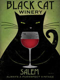 Black Cat Winery Salem Reproduction d'art par Ryan Fowler