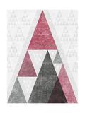Mod Triangles III Soft Pink