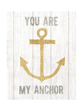 Beachscape III Anchor Quote Gold Neutral